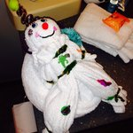 Snowman towel creation