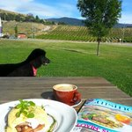 Outdoor dining with a view - the best place in Cromwell for brunch/lunch in summer