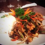 Sea bass fillets with chillies and thai herbs- delicious!!