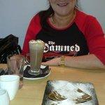Cinnamon Pancakes and Hot Chocolate