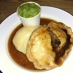 Steak Pie, Creamy Mash, Mushy Peas and Port Liquor
