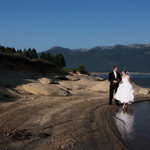 Lake Cascade is a perfect spot for unusual wedding and family pictures