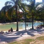 the lagoon (not part of resort)