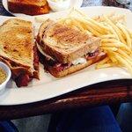 Moist, flavorful pastrami sandwich
