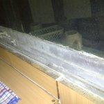 degrading aluminium windows never been cleaned.