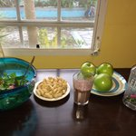 Kitchen: 5 min from The Azure, there is supermarket. I prepared myself salad, smoothie and peanu