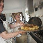Flipping the tortilla