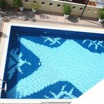 Swimming Pool, Looking Down from our room's window