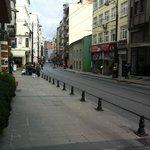 Рядом с отелем трамвайная остановка
