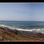 Playa de Zumaia a pocos kilometros de la Jesuskoa