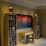 Presidential Suite Art and Bookshelves
