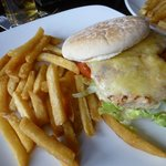 Chicken and cheese burger