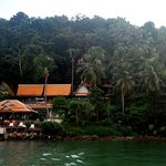 The resort, this photo taken on the boat while we were traveling to Klongkloi Beach