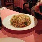 Fried noodles ans Vegetables