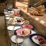 some part of brekfast buffet.