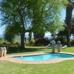 Swimming pool and Swartberg Mountains in the background