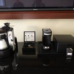 Both coffee makers in our concierge level room