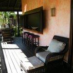 Outdoor balcony of villa
