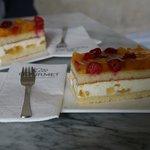 Heerlijk gebak in het restaurant