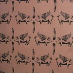 the wallpaper in the ladies toilets