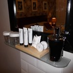 Complimentary branded toiletries