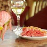 watermelon and white wine