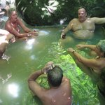 Enjoying the hot springs in Dominica