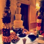 Chocolate fountain+fruit trees
