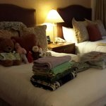 Our room was messy when we left for the day. This was how it was when we returned after lunch. M