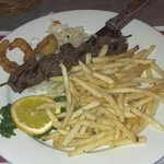 Food was great! Service was nice! Food was fast! Place was clean! This was the steak skewers....