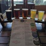 Tasting Rack at 4 Pines Brewery