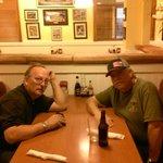 Waiting for dinner at Boston Restaurant next door to Days Inn
