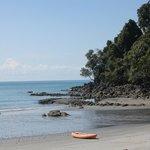Private beach at Tulemar