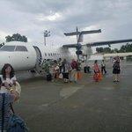 The plane from Cebu,