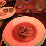 Lobster bisque with shrimp soup