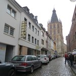 hotel's street and the Rathaus in the back