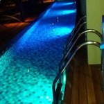 Night view of pool access