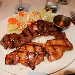 Grilled Beef and chicken