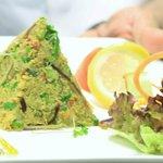 kakra starter ,lightly spiced crab with salad