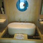 Bathroom tub nice - no shower just a wand