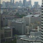 高層ビル群が見えました
