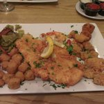 The seafood combination platter