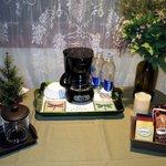 Garden Room Coffee Setup