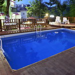night view in outside pool