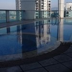 from the pool at the top