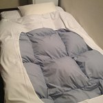my extra bed (futon) with super warm and fluffly blanket :)