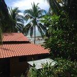 Aussicht von der Terrasse der Monkey Loft
