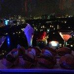 Martinis and chorizo tapas