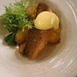 sea bass from the christmas menu