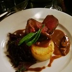 Beef medallions from the christmas menu